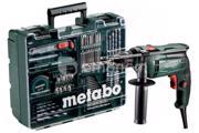 Metabo დარტყმითი დრელი Metabo SBE 650 SET (600671870) 650W + აქსესუარების ნაკრები