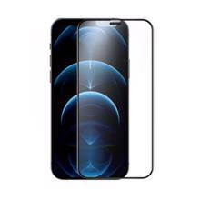 Glass Pro+ Full Screen Tempered Glass For Apple iPhone 12/12 Pro Black ეკრანის დამცავი