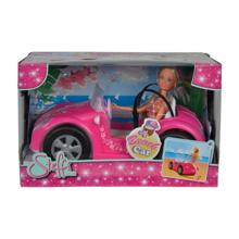 SIMBA Beach Car თოჯინა ვარდისფერი სანაპიროს მანქანით