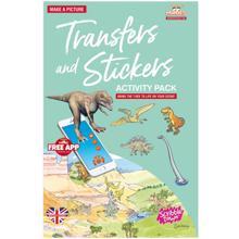 Scribble down ფურცელზე გადამყვანი სტიკერები Transfer and Stickers Dinosaurs