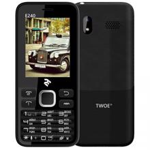 2E Mobile phone E240 Dual SIM Black
