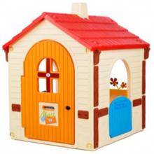 Injusa ფერადი სათამაშო სახლი ფანჯრით
