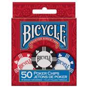 BICYCLE Poker Chips: 8 Gram Clay (50 ცალი) − პოკერის ჩიპები