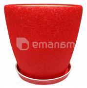 Oriana კერამიკული ქოთანი დასადგამით გრაცია №1 აბრეშუმი წითელი