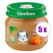 5 ქილა პიურე ატმით Nestle Gerber 80გრ